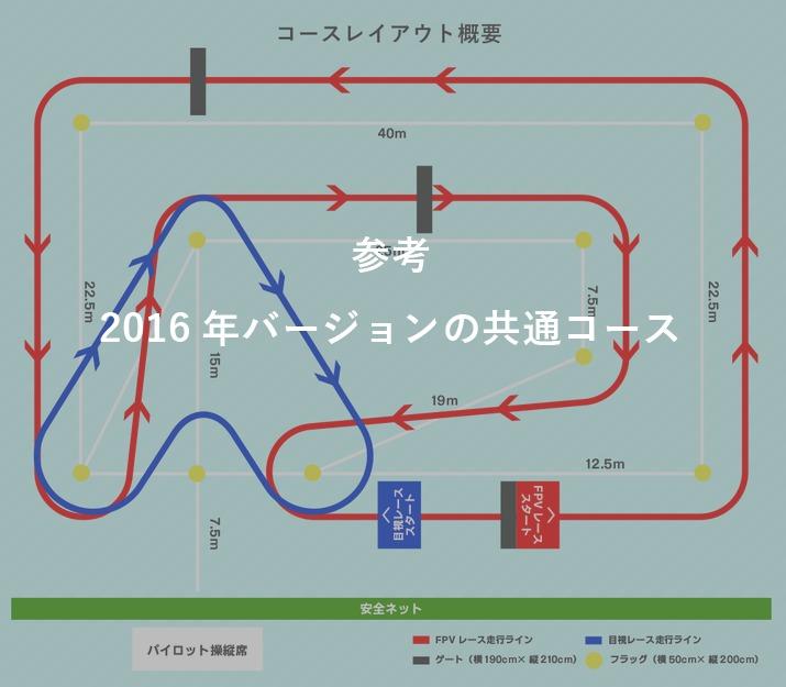 全国ドローンレース選手権2016コース
