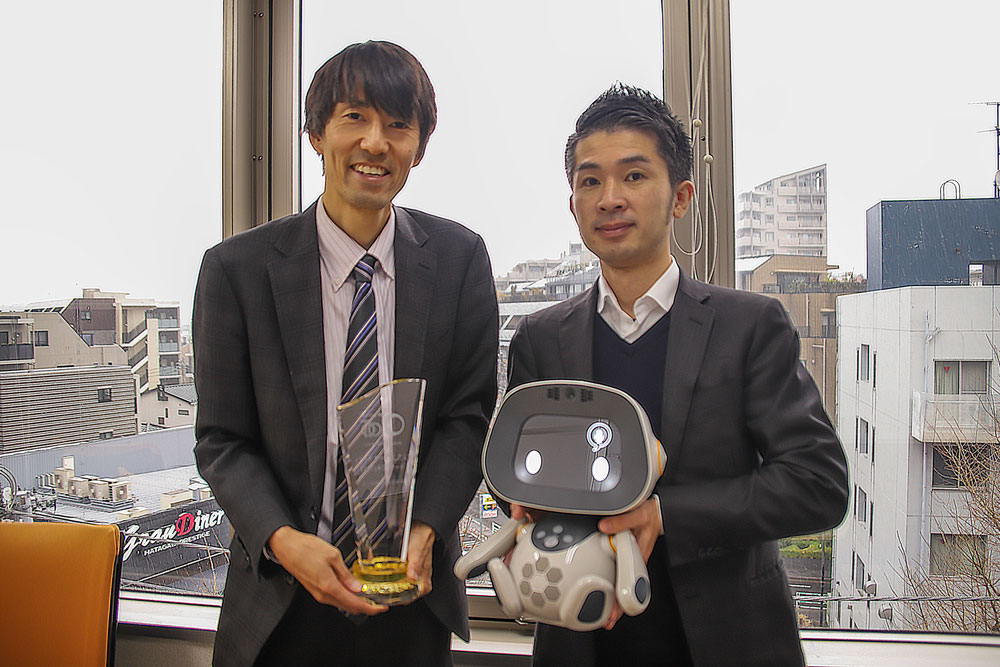 GOOD COMMUNICATION ROBOT AWARD表彰の様子