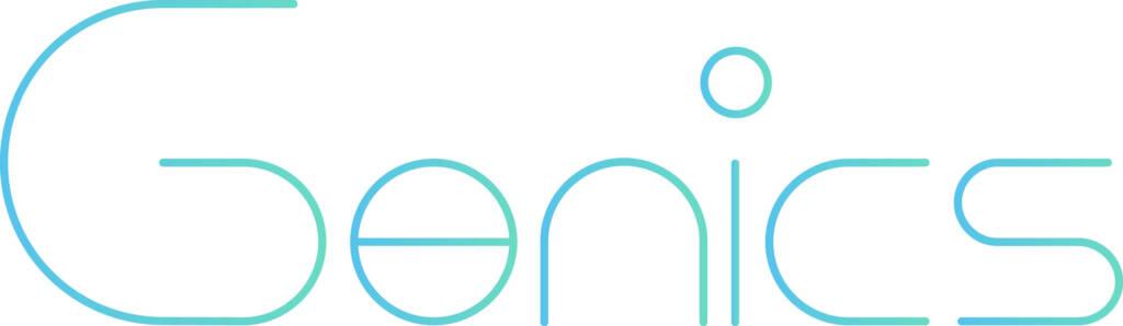 genicsの社名ロゴ画像