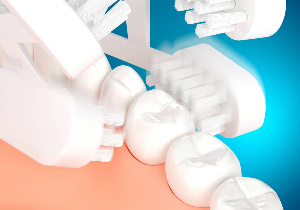 次世代型全自動歯ブラシの磨いている際のイメージ図